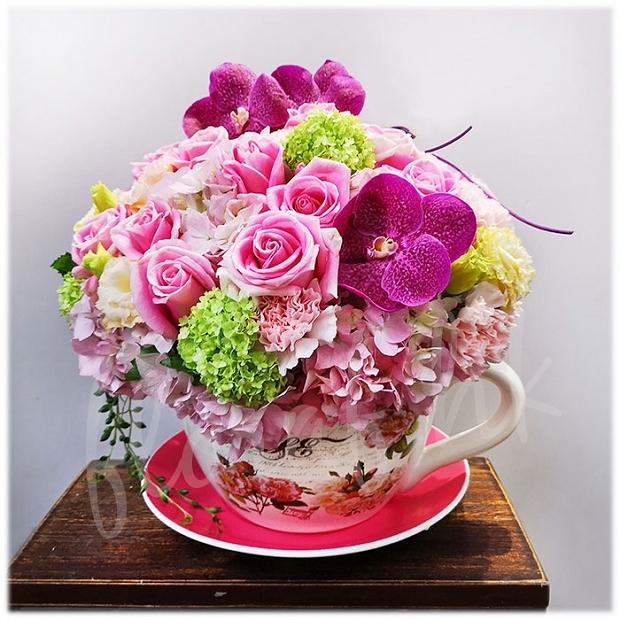Big Tea Cup Flower Tea Cup Flowers Tea Cup Flower Arrangement
