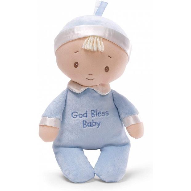 初生嬰兒BB送禮 - 正版 Baby Gund GOD Bless Baby 上帝保守嬰兒 布公仔