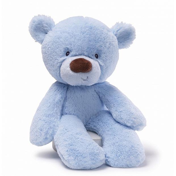 美國 BABY GUND Lil Fuzzy 藍色超柔軟嬰兒泰迪熊 4030416 CE歐洲合格認證