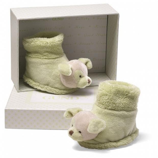 ADD-BB131 新生嬰兒bb禮物 Baby Gund 開心果小狗鞋