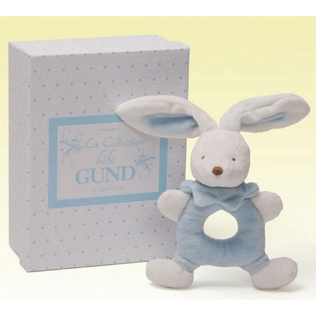 新生bb禮物送禮 Baby Gund 藍色兔子造型的 搖鈴