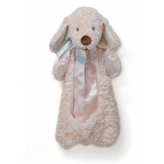 Baby Gund 藍色絲帶小狗安撫巾