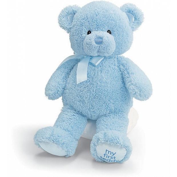 CE歐洲合格認證 安全嬰兒玩具 - Baby Gund 我的第一藍色15吋泰迪熊   21034