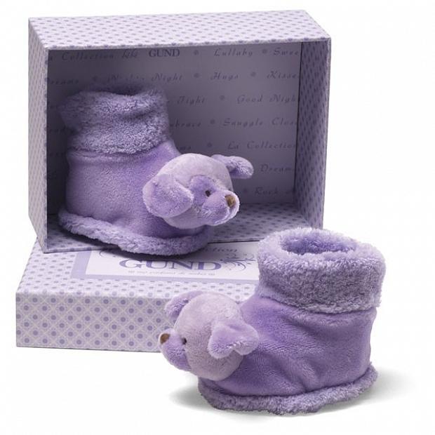 初生嬰兒禮物Baby Gund 葡萄甜心小狗玩偶鞋