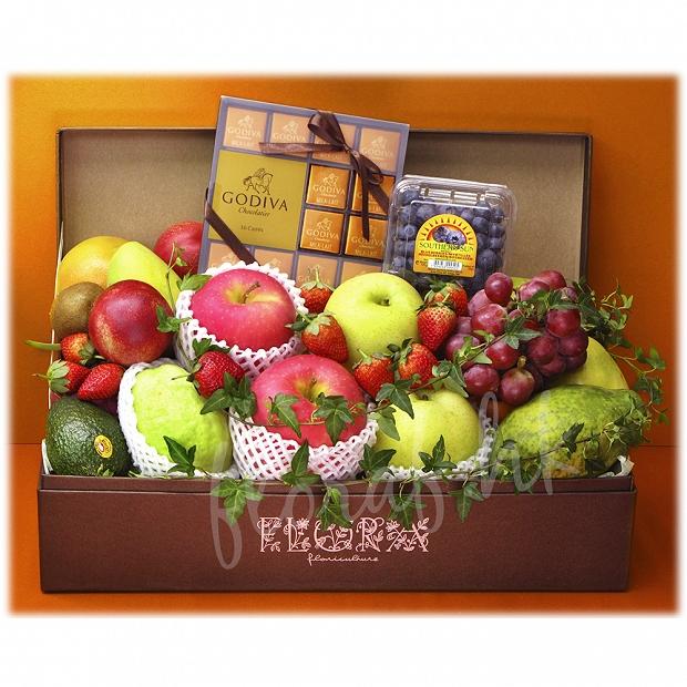 FR3   生果禮盒 - Godiva 朱古力、水果、日本蘋果